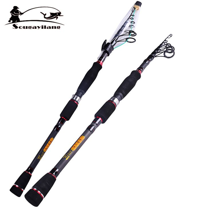 Hot Sale 1.8-2.7m Telescopic Carbon Fiber Fishing Rod Boat Rock Surf Spinning Fishing Pole Tackle Portable Fly Carp Fishing Rods
