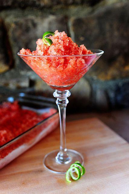 Pioneer Woman watermelon granita. So easy & refreshing