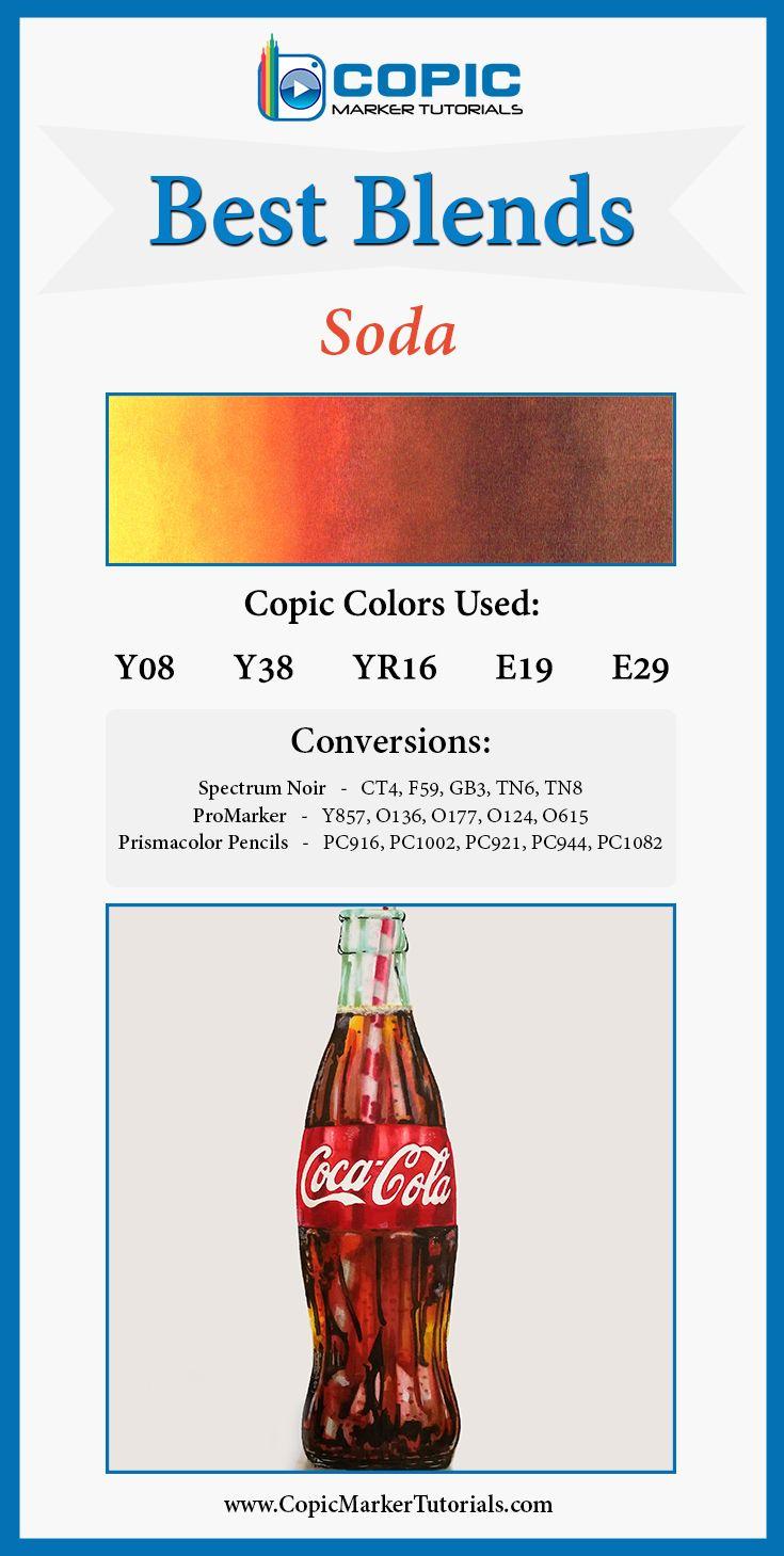 Best Blends for Copics, Prismacolor, Spectrum Noir, and ProMarkers: SODA