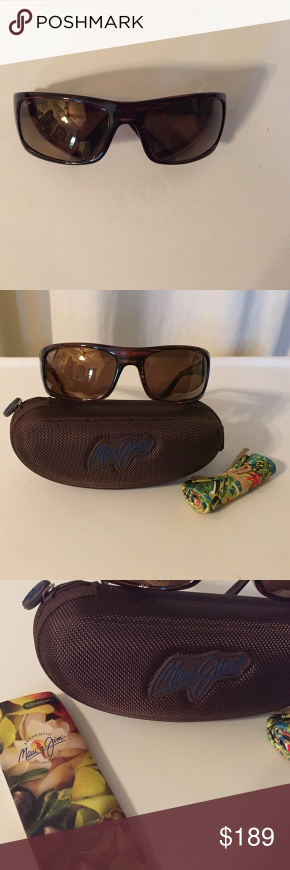 Brand new Maui Jim men's sunglasses Men's Maui Jim tortoise shell sunglasses, case included. Maui Jim Accessories Glasses