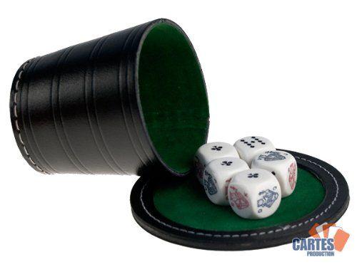 Poker Menteur : Gobelet Cuir + 5 Dés de Poker: Poker menteur gobelet cuir + 5 dés de poker Marque: France Cartes Etat: Neuf Cet article…