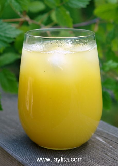 Jugo de piña. I made a single serving version of this and it almost reminded me of the pina juice from Costa Rica!