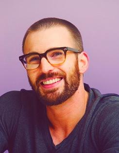 Chris Evans - Captain America. Beards really DO change everything!