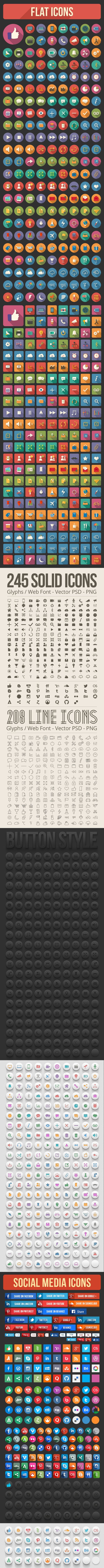 Icons pack by Hakan Ertan, via Behance
