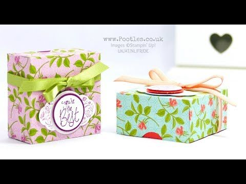 Stampin' Up! Demonstrator Pootles - Fold Flat Lidded Gift Box using Petal Garden