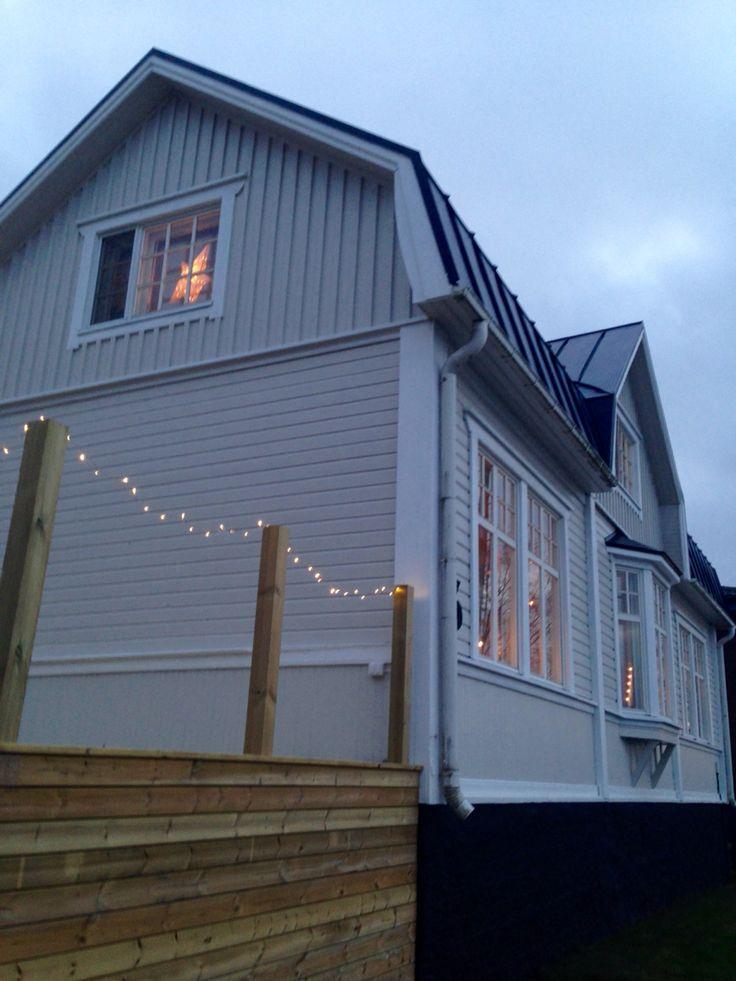 Huset med ny färg och ny terass <3