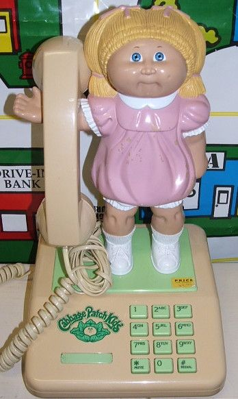 Possibly the most 80s phone ever.  Cabbage Patch Kids phone!! http://www.liketotally80s.com/2015/02/80s-phones/