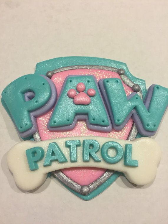 Paw Patrol Girls Cake Topper Set by NaomisSweetArt on Etsy                                                                                                                                                                                 Más
