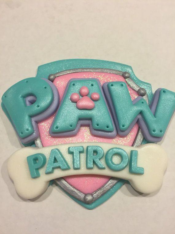 Paw Patrol Girls Cake Topper Set by NaomisSweetArt on Etsy                                                                                                                                                                                 Más