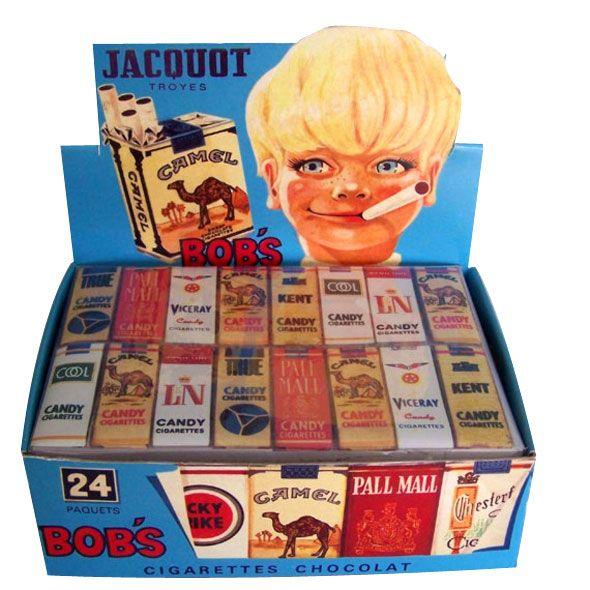 Cigarrillos de chocolate, cuando el fumar estaba bien visto.