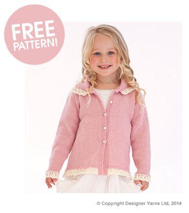 DY Choice Lace Jacket Pattern | Deramores free pattern
