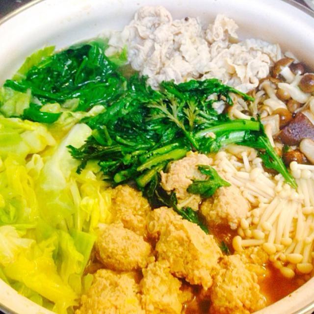 昨日は鶏ガラ醤油ベースのお鍋ー あっという間になくなってしまった(ーー;) 朝に残ったスープでおじやが食べたかったのになー。 - 11件のもぐもぐ - 寄せ鍋 by aicolin