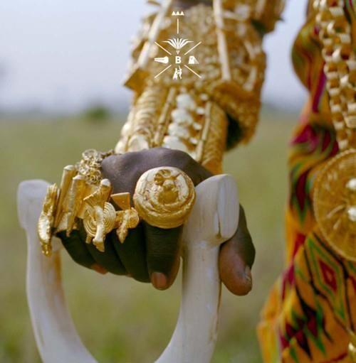 Gold ornaments worn by a Ghanaian chief #ring