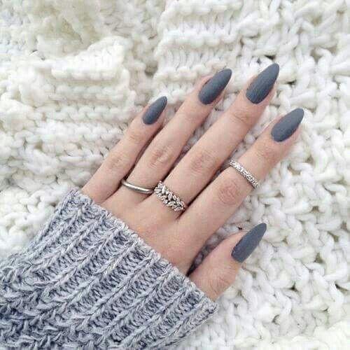 この冬「ネイルカラー」はこれがオススメ♡2016 | ColorfulL Style ... ほっこりしちゃう【グレー】ネイル♡