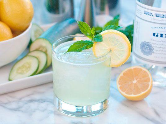 The Botanist // gin, st. germain, lemon juice, simple syrup + mint