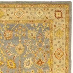 carpet 12 x 15. safavieh handmade oushak slate blue/ ivory wool rug (12\u0027 x 15\u0027) carpet 12 15