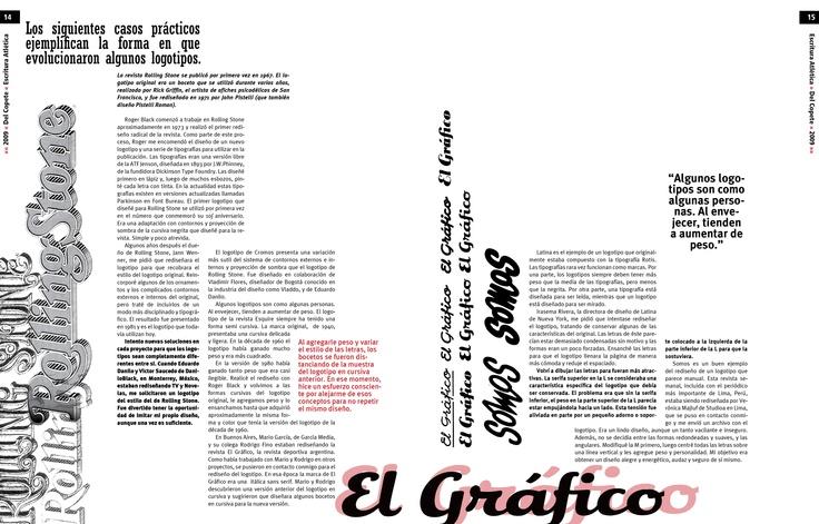 Trabajo final - Tipografía II - Cátedra Gaitto - Revista de la Cátedra - 14-15