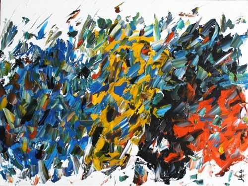 Abstract for SALE - Union #1 30x40 #abstract #art #painting Julien Aubé