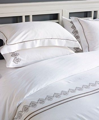 Jaipur Bed Linen Set Based on a Victorian lace design but with an Indian interpretation, the lace trim and luxurious 300 thread count boosts the luxurious feel of this bed linen set. - See more at: http://www.lombok.co.uk/Jaipur-Bed-Linen-Set-PLINJAIPUR/#sthash.q44FSIaA.dpuf