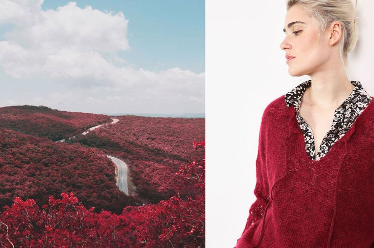 Collection Stella Forest Automne Hiver 2016 Stella Burgundy #stellaforest #stellaburgundy #burgundy #bordeaux #rouge #fallwintercollection #fashion #mode #paysage #landskape #autumn