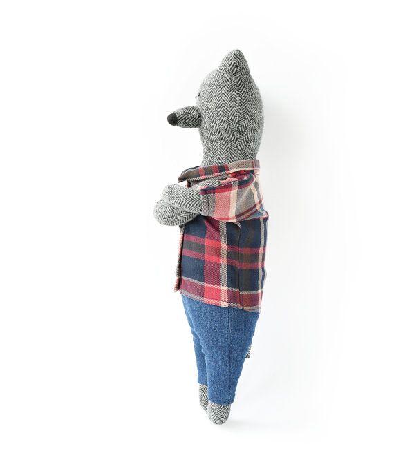 Craig The Bear. Primitive teddy Bear by PhilomenaKloss on Etsy