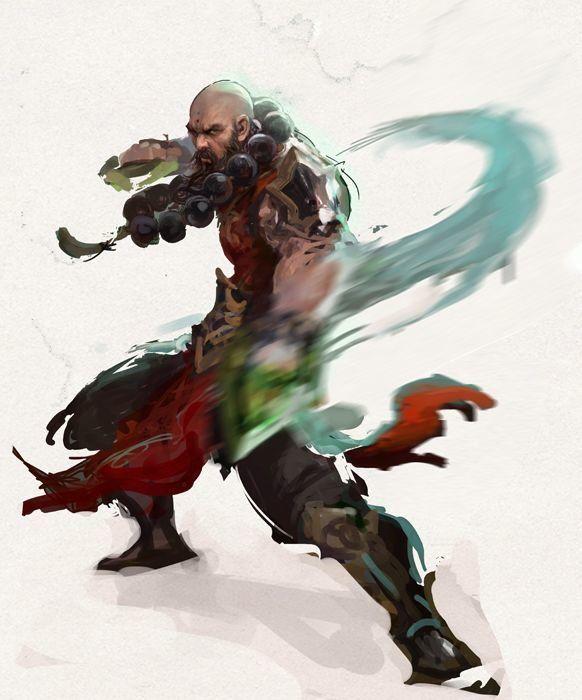 diablo monk, 희정 성 on ArtStation at https://www.artstation.com/artwork/diablo-monk