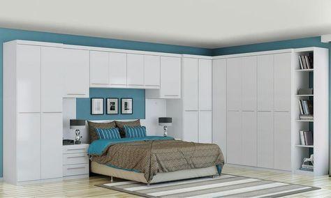 Quarto de Casal Modulado Completo Smart Branco - Kappesberg | Lojas KD