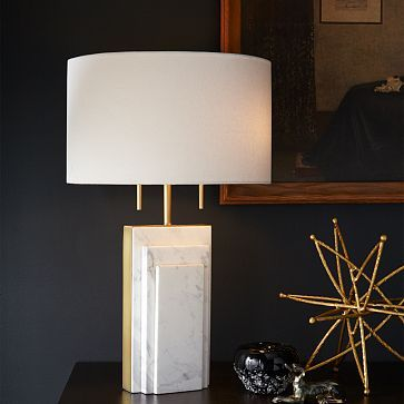 Good Deco Marble Table Lamp #westelm