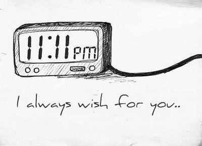 11:11 make a wish, blow a kiss...