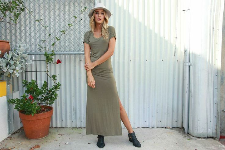 Madison Square - Running Free Maxi Dress - Khaki