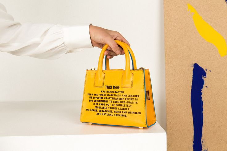 Marlow London's Mini Tote in Yellow - part of the 'This Bag' collection