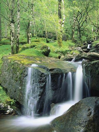 Gougane Barra Forest Park Waterfall, West Cork, Ireland.
