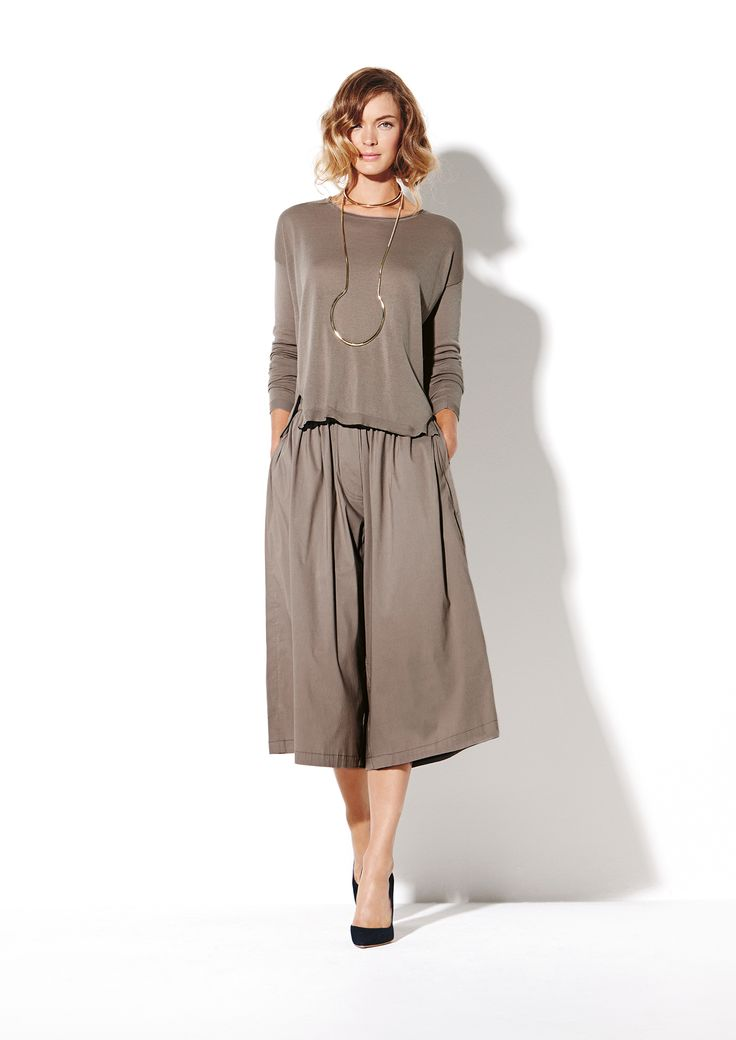 Cruise Sweater and Microprene Culottes