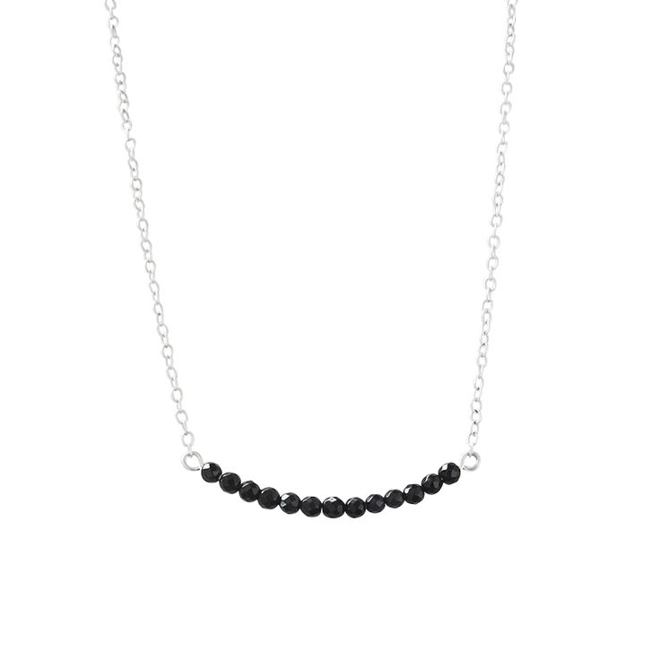 The 4cm width of Onyx Necklace in Sterling Silver. Available online at www.murkani.com.au