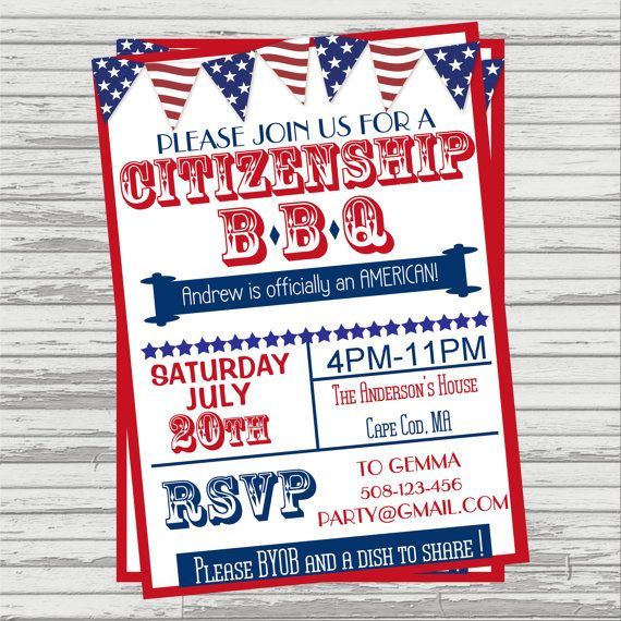 Citizenship/Naturalization BBQ Party by SandInMyShoesDesigns