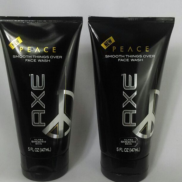Axe Peace Smooth Things Over Face Wash Ultra Smooth Skin 5 oz for men  It's time to Smooth Things Over with Axe Peace Face Wash.   Treat yourself to some down time with this face wash specially designed to cleanse your face, leaving your skin looking and feeling irresistibly smooth.