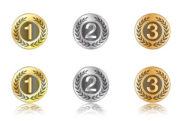 Badges - gold, silver, bronze by stockimagefolio on @creativemarket