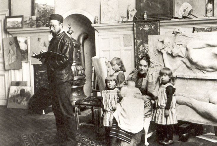 Carl Larsson (1853-1919) The Family in the Studio.  A whole board about Carl Larsson!!