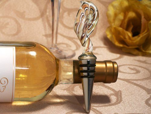 Wedding Favors Murano art deco collection Swirl design wine stopper (Set of 6) by Cassiani. $15.54. Wedding Favor - Bridal Shower Gift - Baby Shower Keepsake: Stylish and sophisticated are the only words to describe our murano art deco collection favors. Inspired by the artisans of Murano Italy, these handcrafted Murano like glass bottle stoppers are stunning and will wow your guests with it's elegance and style. From Cassiani collections exclusive Murano art deco c...