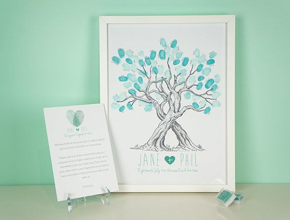 Custom Wedding Fingerprint Tree by TheLittleTouchesUK on Etsy