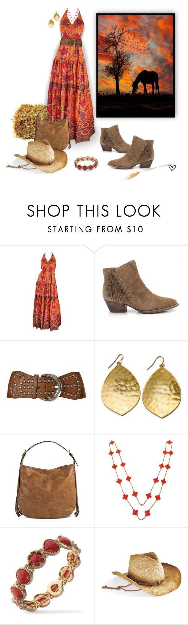 """~Cowgirl-Up~"" by justwanderingon ❤ liked on Polyvore featuring Frank Usher, Ash, Angel Ranch, Lauren Ralph Lauren, Merona, Van Cleef & Arpels, Vintage America and tribalprint"