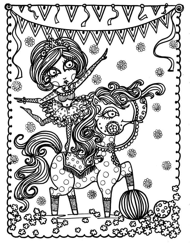 Adult Young Horse By Deborah Muller Coloring Pages Printable And Book To Print For Free Find More Online Kids Adults Of