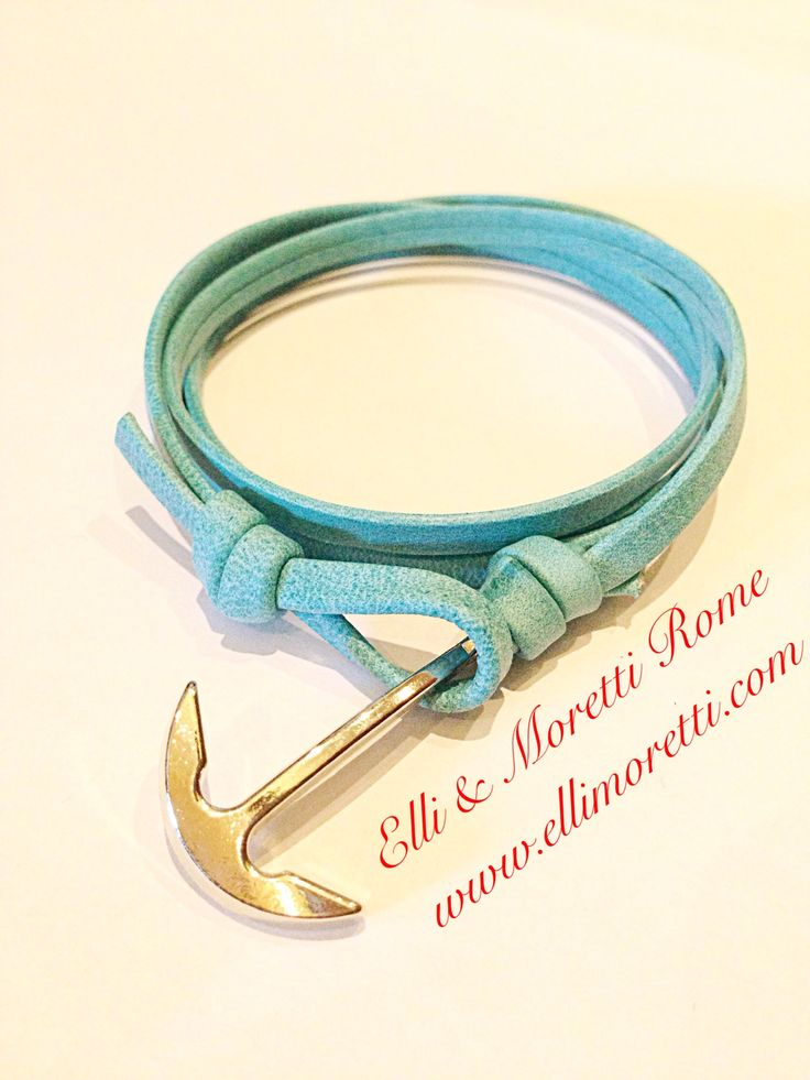 Elli & Moretti Rome Yacht Club bracelet: A Classy  Italian handmade Genuine leather Gold plated anchor bracelet. *When everybody asks you where you got it, will you tell?