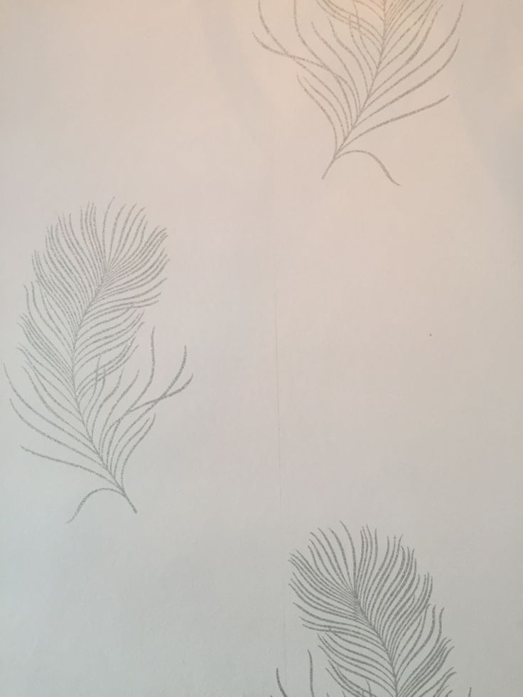 Delicate silvery wallpaper