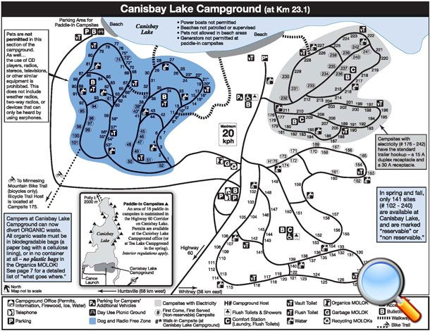 Canisbay Lake Campground Map