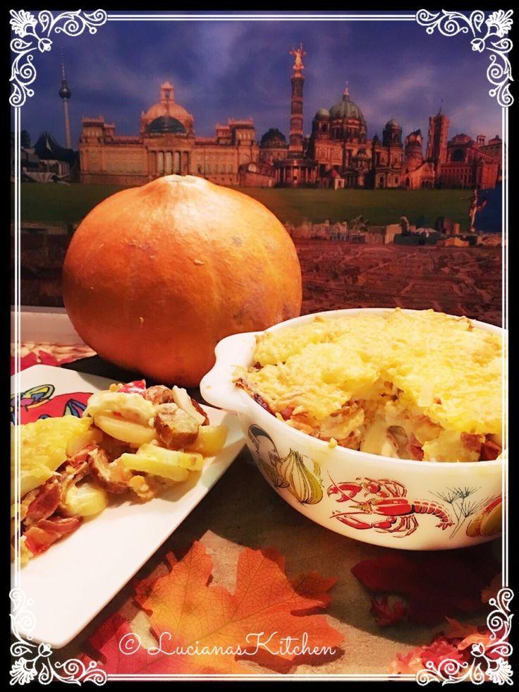 Rakott krumpli een Hongaarse ovenschotel uit de Airfryer uit LucianasKitchen