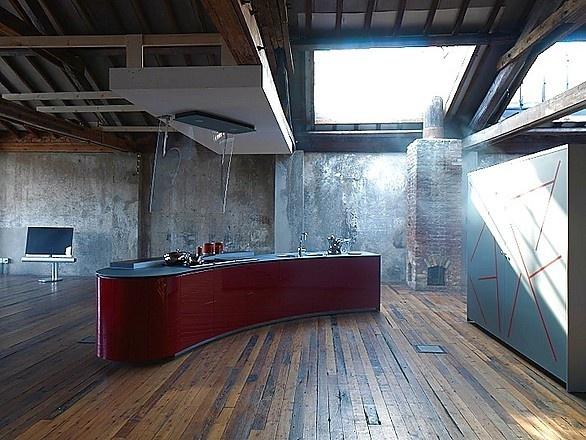 Awesome Designk che Alessi Volo in hochglanz Rot Valcucine K chen