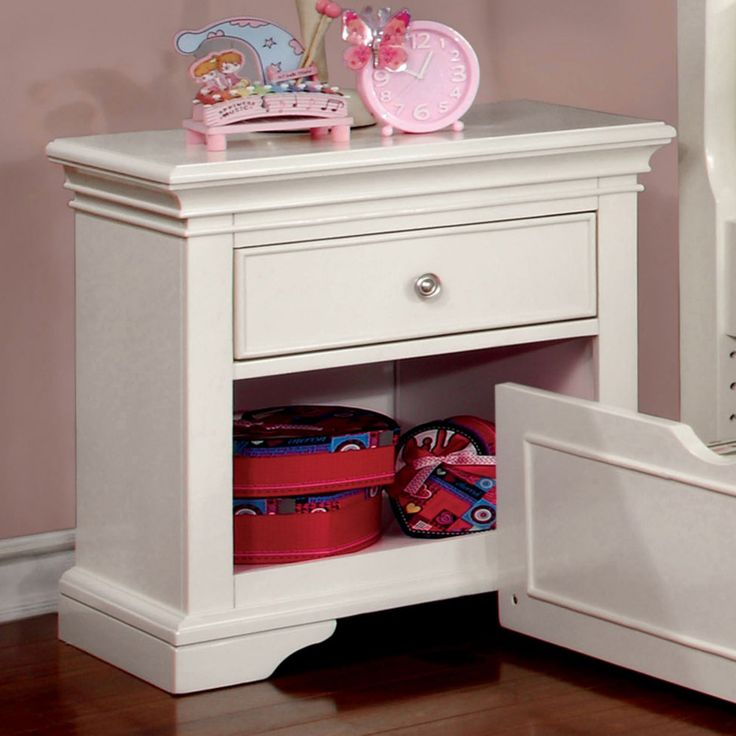 Furniture of America Adina Transitional Nightstand - IDF-7943WH-N
