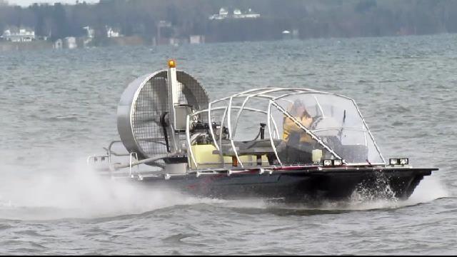ATASD at speed - 90 km/hr on water, 120 km/hr on ice.