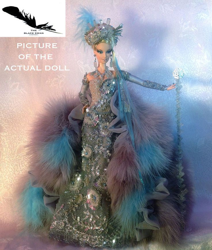 Antarctica Queen of the South Pole - a tribute to Bob Mackie's Fantasy Goddess of the Arctic by The Black Swan Company.
